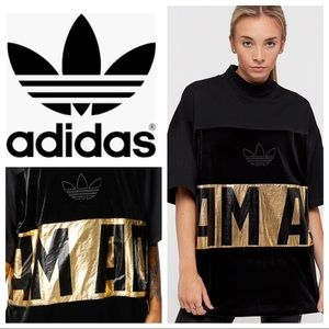 Adidas Bold Sweat Tee With Gold Foil